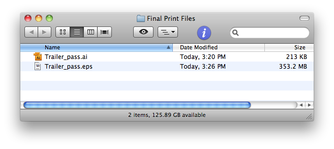 native ai file is much smaller than eps file