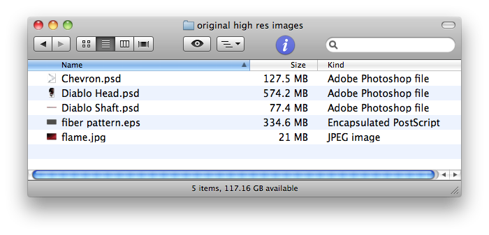 working file sizes total 1.13 GB