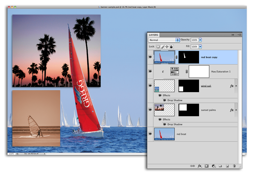 image of Photoshop Banner Layout With Layers