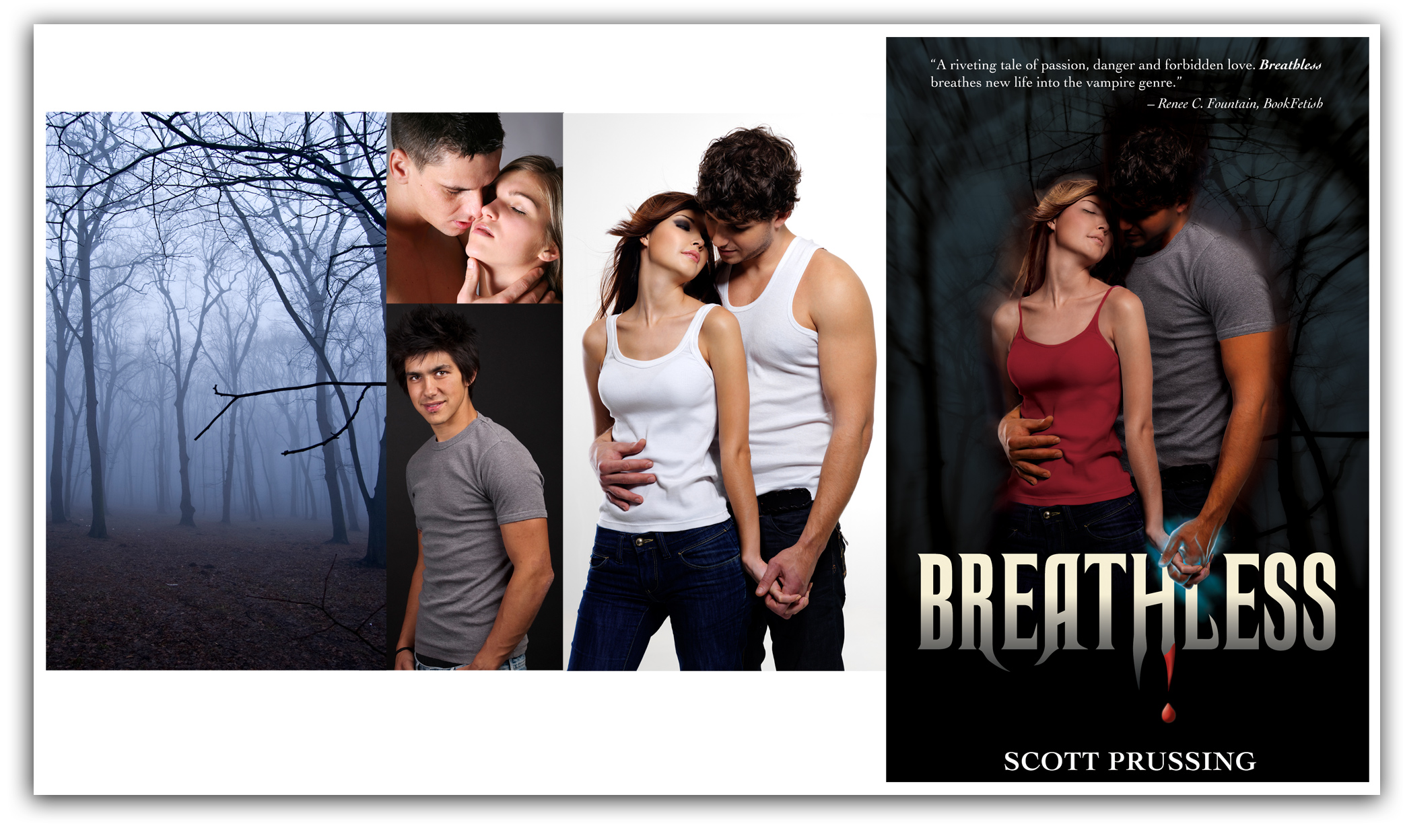 image of Breathless cover design with working images