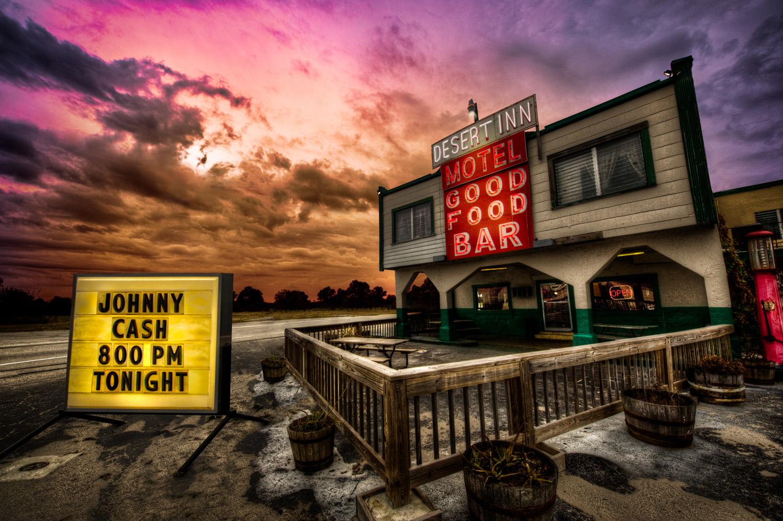 image of Johnny Cash at the Desert Inn