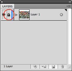 Illustrator Lock Layer