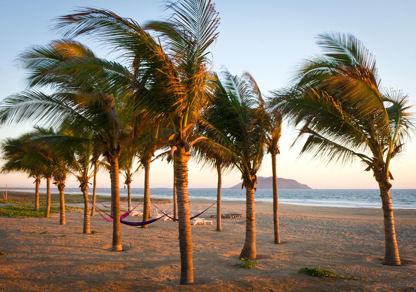private beach sunset