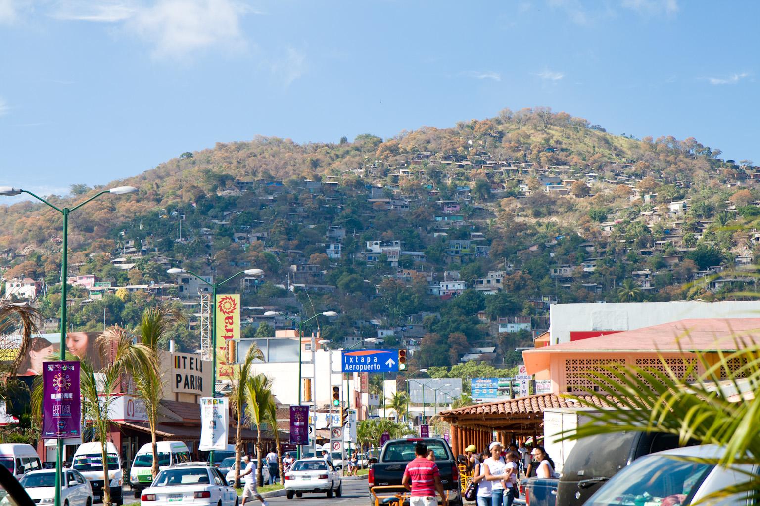 street view of hills