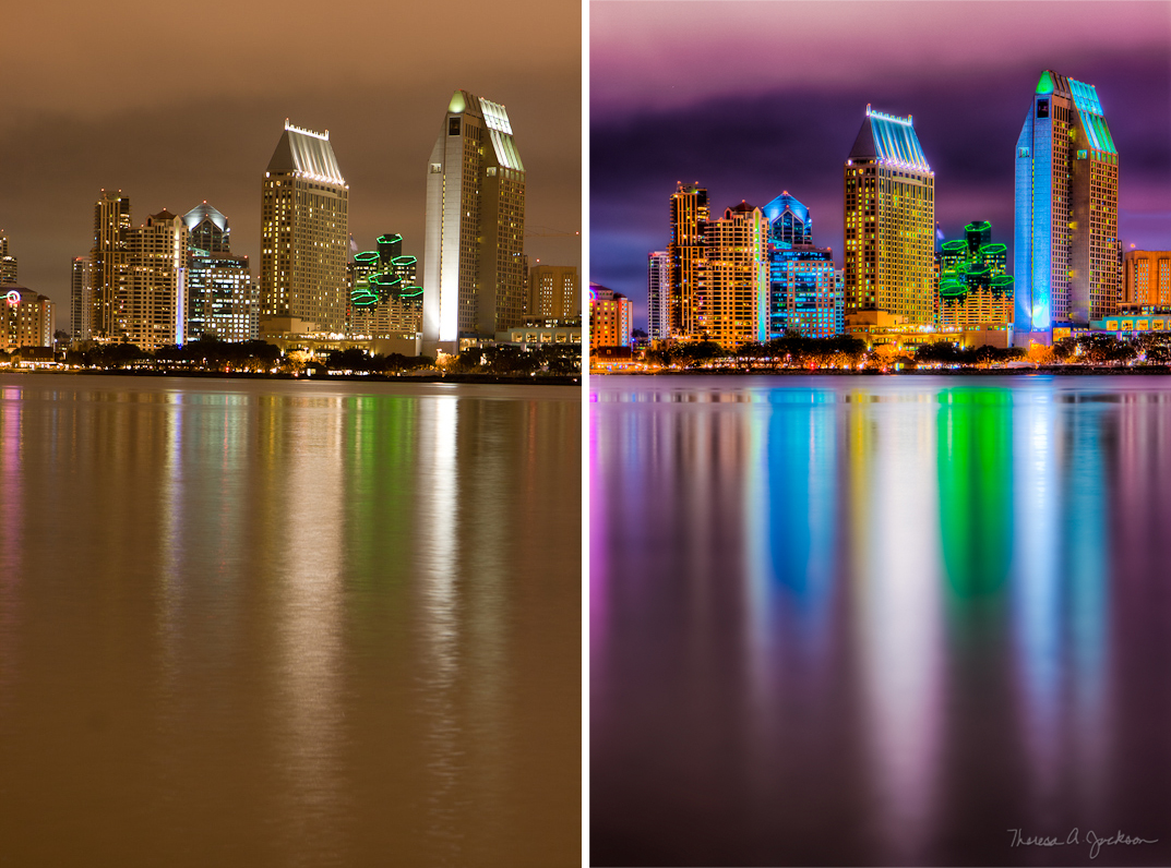 image of HDR before and after