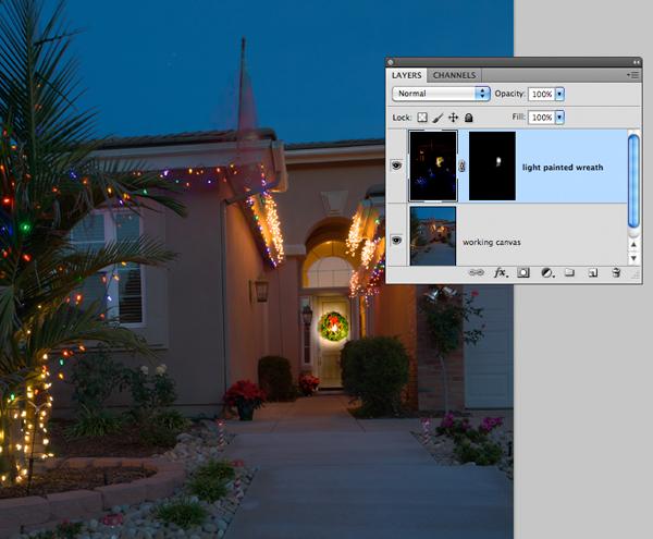 image of Photoshop layer blending technique