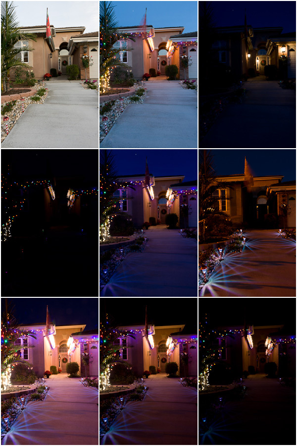 original bracketed images of Holiday Lights home
