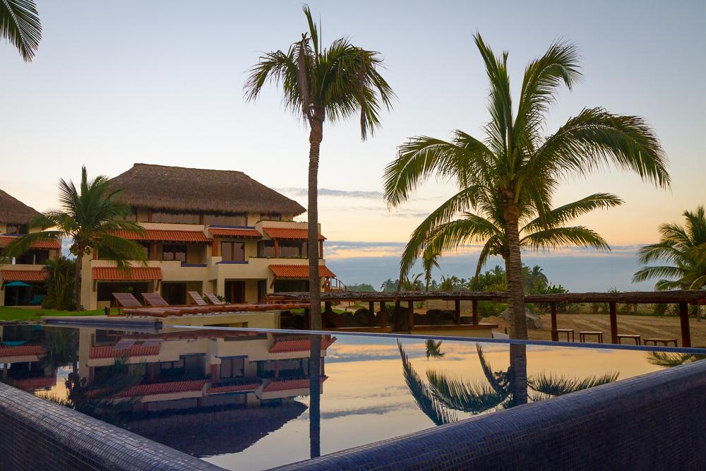 Las Palmas pool sunset