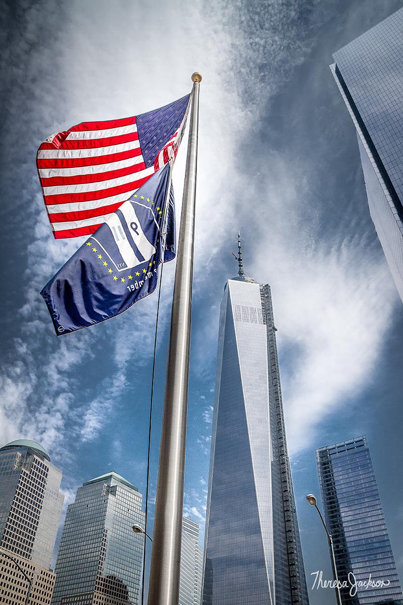 9/11 memorial flag pole