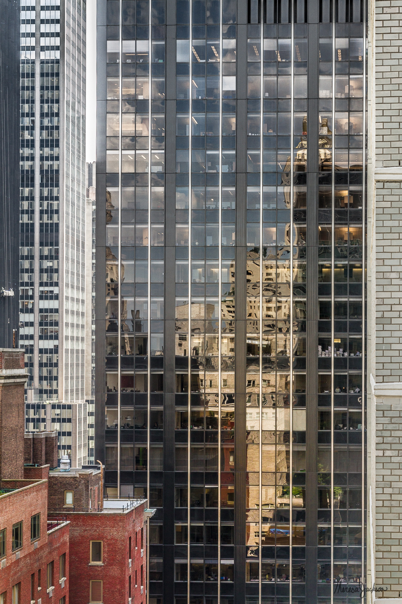 NYC office building reflections