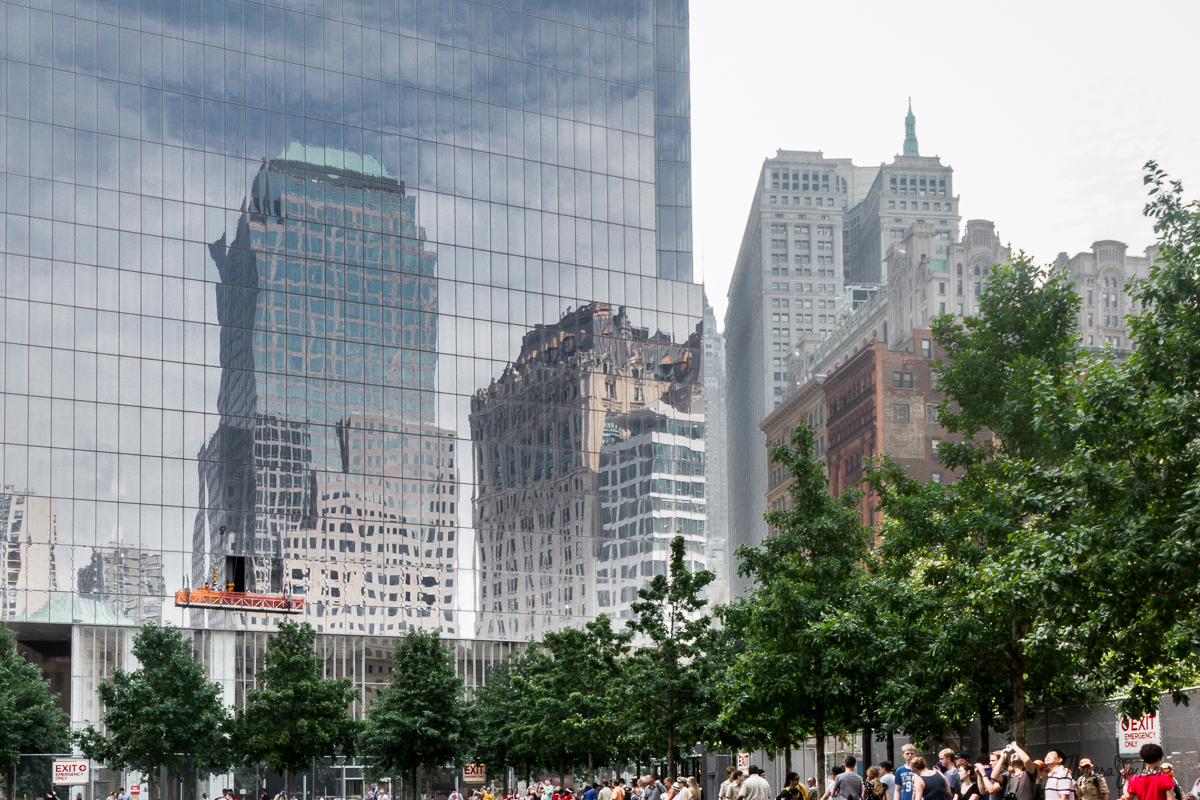 NYC reflections from 911 memorial