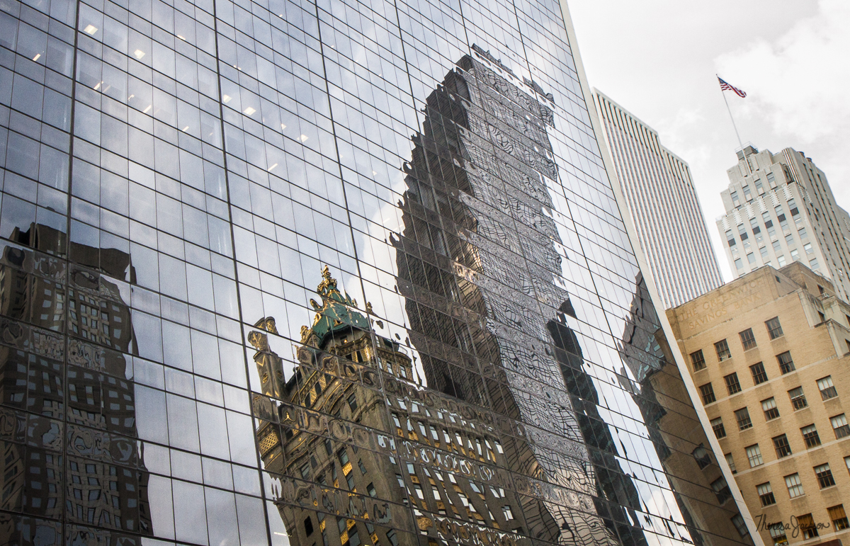 NYC curved building reflections