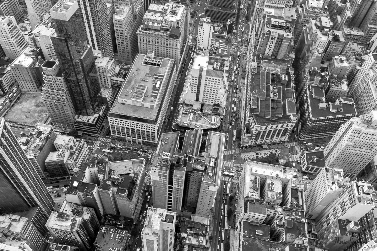Looking down from the Empire State Building