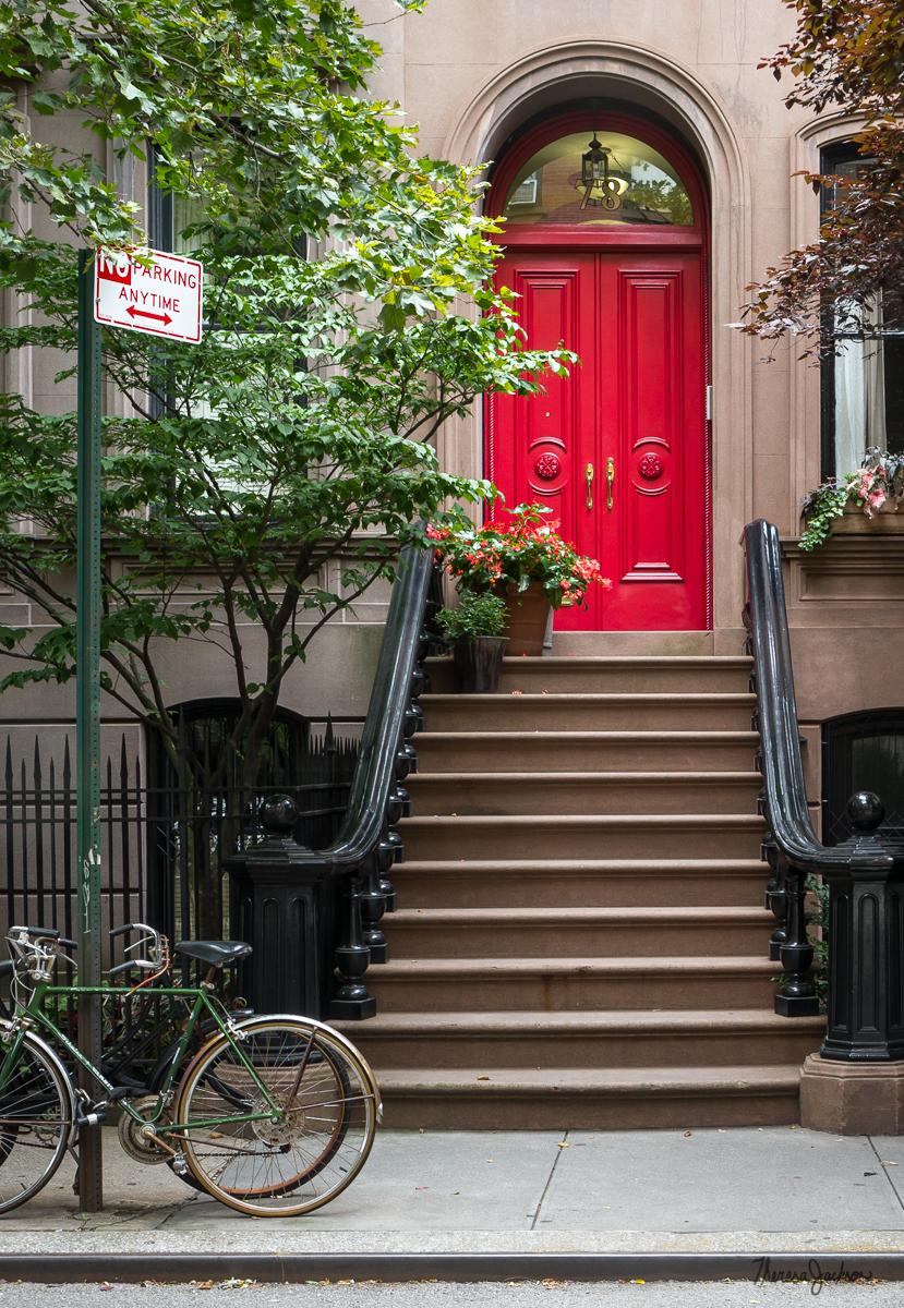 NYC Brownstone Red Door