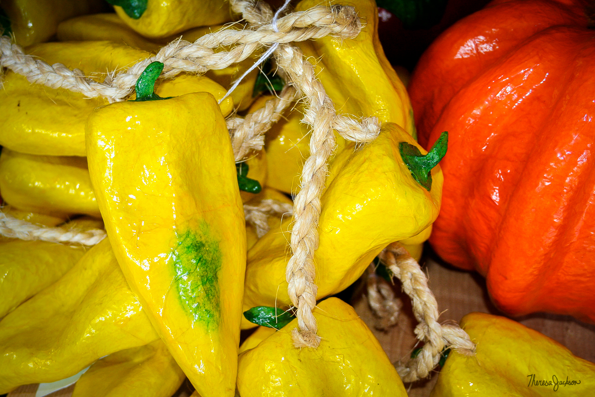 Ceramic Peppers in Old Town